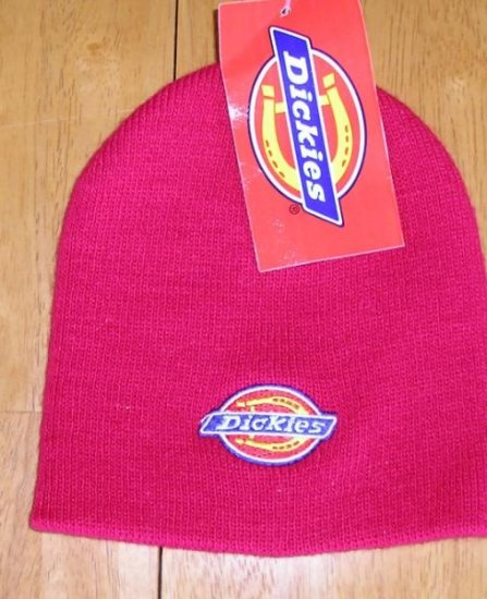 Dickies Brand Stocking Cap - Red - One Size - NEW!