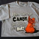 NEW Gray Halloween Humor Shirt Large Youth TShirt SALE!
