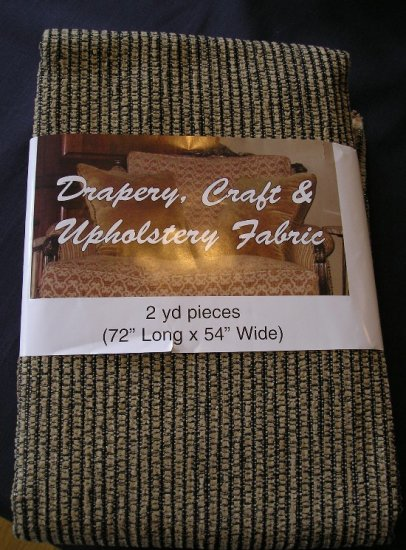 Upholstery Fabric NEW 2 Yards Durable Black & Gold NICE