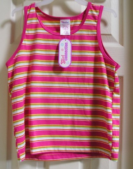 Girl Connection XL Pink Ribbed Shirt Tank Girls Top NEW