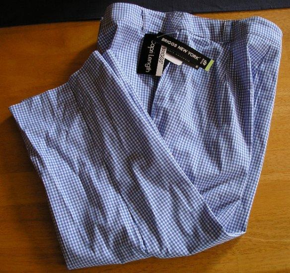 Womens Plaid Capri Capris Pants 4P NEW $36 Blue!
