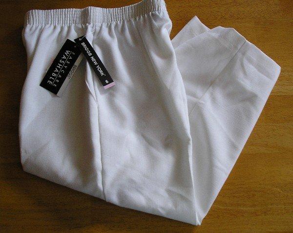 New Briggs New York Capri Capris Womens 4P White - $30 SAVE!