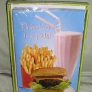 SALE Party Invitations 10 + Envelopes Burger + Fries CUTE!!
