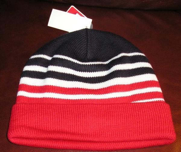 NEW Old Navy Winter Hat Cap Red White Black Old School Styling