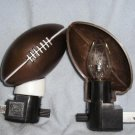 New Football Night Lights 2 Pc. Lot +Bulbs Nice Look!