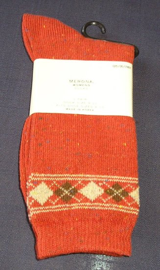 New Merona Socks - Sz 9-11 Rusts and Browns CUTE and Comfortable!