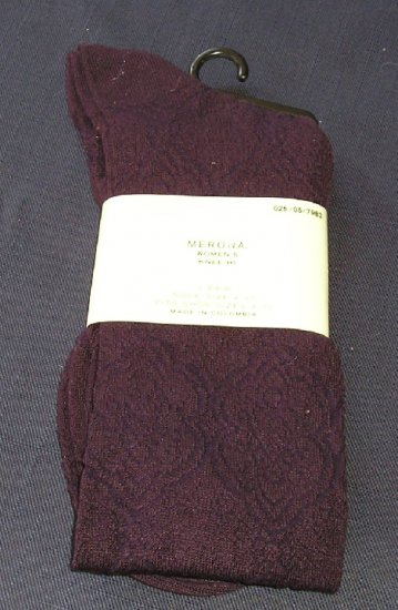 New Womens Trouser Knee Hi Socks Purple Sock Size 4-10 NICE!