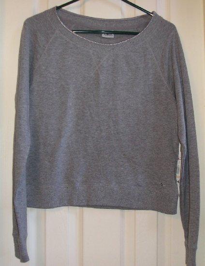 New Athletic Works Stretch Gray Glitter TShirt T-Shirt Medium Great Style