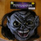 Halloween Monster Face Mask with Teeth and Hair NEW