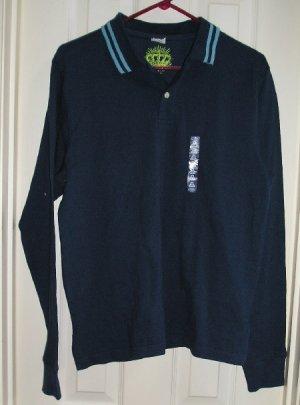 Old Navy Polo Golf Shirt Mens Medium Blue NEW Clearance
