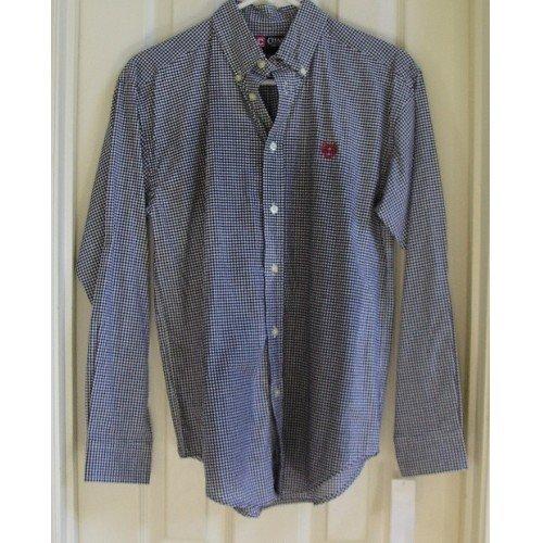 CHAPS Brand Navy Checked Shirt Boys Oxford L 14-16 NEW!