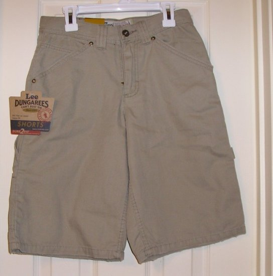 Lee Dungarees Boys Khaki Shorts 12R 28W NEW