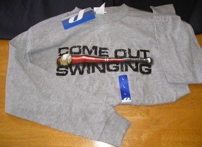 ProSpirit Boys Teens T-Shirt Shirt Baseball Swinging XL NEW