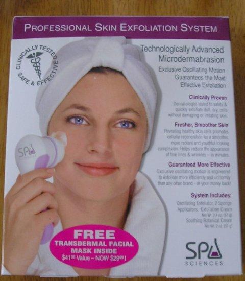 Spa Sciences Professional Size Exfoliation System Kit + Bonus Facial Mask NEW