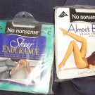 No Nonsense Panty Hose Sheer Endurance Almost Bare Ivory Size C Control Top NEW!