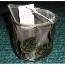 Antique Finish Votive Candle Holder Round with Net for Effect NEW