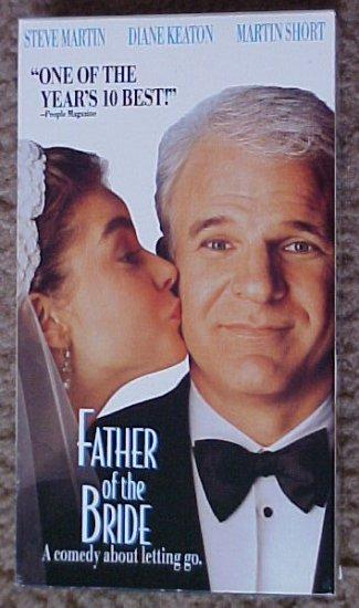 VHS Movie Father of the Bride Steve Martin Diane Keaton VGC Comedy Film