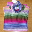 Oh Baby Womens Maternity Top Turtle Neck Spring Colors Medium NEW