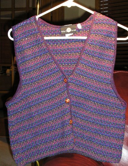 It's Our Time Womens Vest Multi Color Knit Feel Small NEW