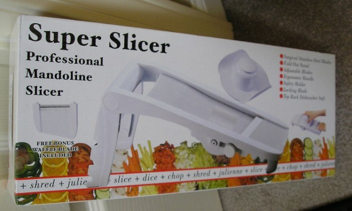 Super Slicer Professional Mandoline Slicer NEW + Bonus