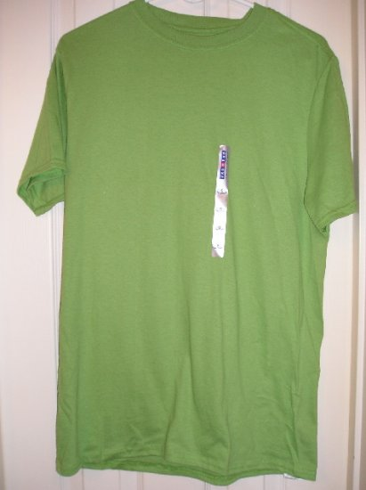 New Mens Small Green T-Shirt by Jerzees Teens Boys