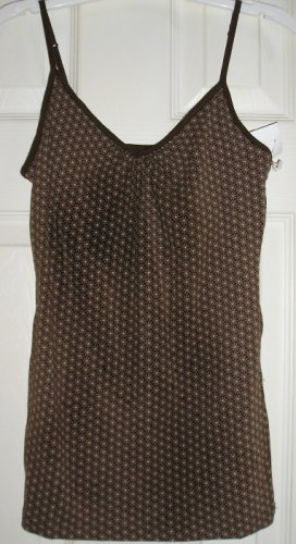 New Merona Brown Daisy Camisole + Built in BRA XS Girls Teens Juniors