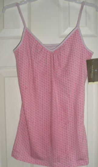New Merona Pink Daisy Camisole + Built in BRA XS