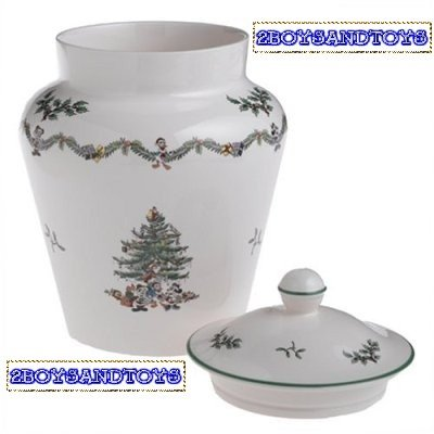 Spode Disney Christmas Tree Cookie Jar and Cover New In Box