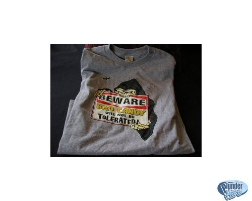 NEW Gray Halloween Humor Shirt Large Youth SALE