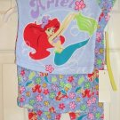 Disney Ariel Mermaid 3 Piece Pajama Set Sleepwear 24 M Size NEW
