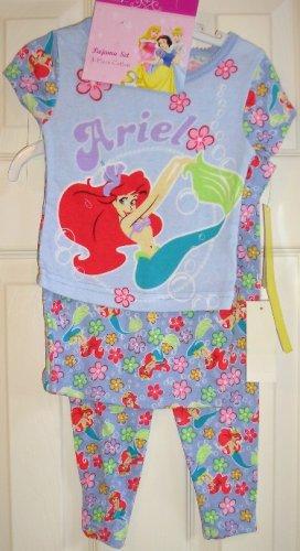 Disney Ariel Mermaid 3 Piece Pajama Set Sleepwear 24 M Size NEW