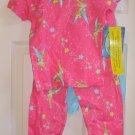 Disney Fairies TinkerBell 4 Piece Pajama Set Size 8 NEW