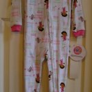 Dora the Explorer One Piece Sleepwear Pajamas Footed 18M NEW
