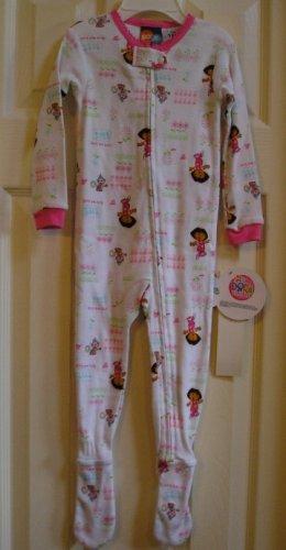 Dora the Explorer One Piece Sleepwear Pajamas Footed 18M NEW