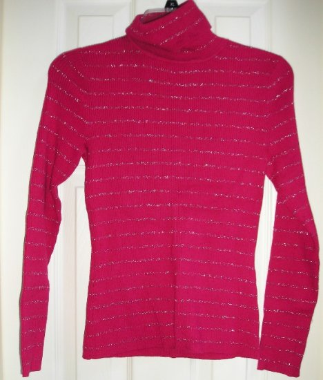 Style & Co Company Womens Petite Small Rose Sweater Glitter Stripes NEW