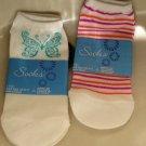 2 Pair Womens Girls Teens Sport Socks CUTE Design NEW