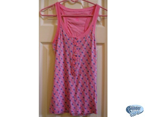 Candies Pink with Hearts Sports Tank Womens Medium NEW