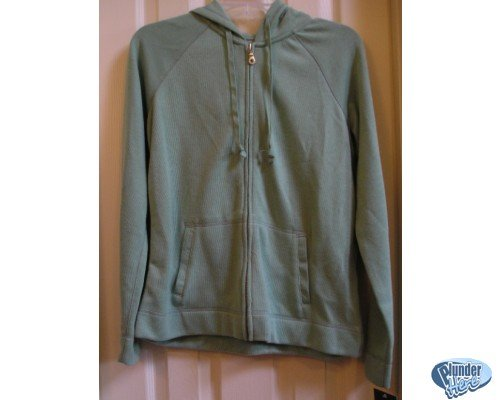 Sonoma Green Hoodie Hoodie Jacket Pockets Womens M NEW