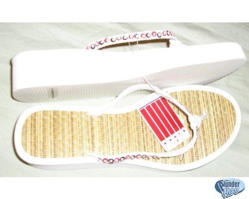 Sonoma Red White Blue Womens Slip Sandals Medium