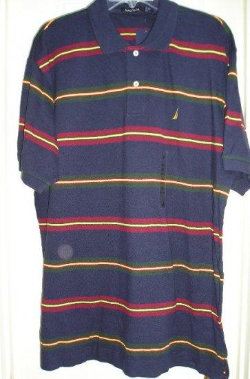 Mens Nautica Golf Polo Shirt XL NEW Navy Blue Nautica Polo Shirt