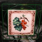 New in Box Tuscan Grapes Tile Trivet - Collectables of Distinction by Scott's # 7914