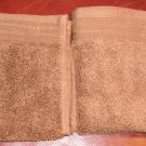 Home Trends Wash Cloth Lot of 2 Warm Coffee Brown NEW