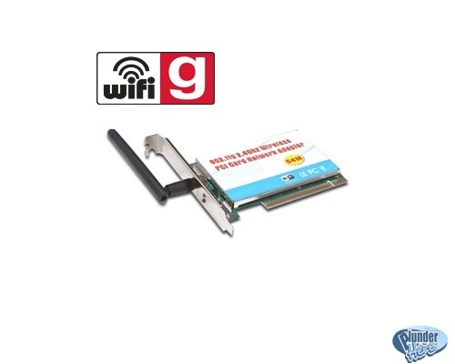 Sybrent PCI-G802 PCI Wireless Card - 54Mbps, 802.11g NEW