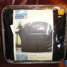 Casual Home 2 pc Chair Slipcover Faux Suede EBONY NEW