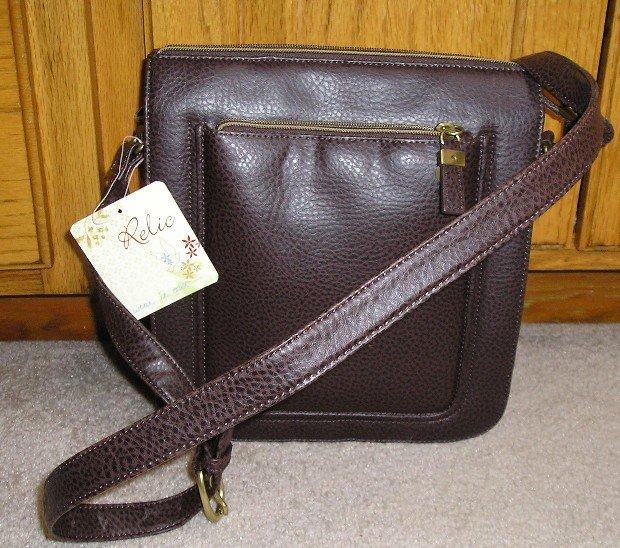 Relic Purse Handbag Shoulder Bag RELIC Connection Brown NEW