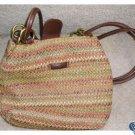 Rosetti Colorful Woven Purse Handbag Shoulder Bag Earthy Colors