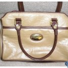 Capezio Tan Brown Leather Look Hand Bag Purse Nice