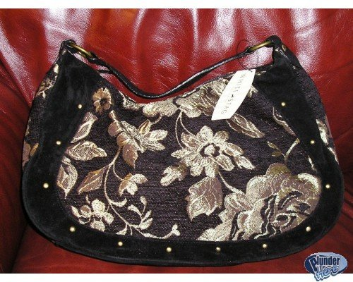 New Black Floral Hobo Bag Purse or HandBag SALE