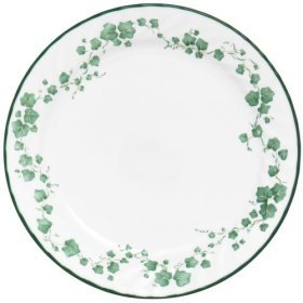 2 CALLAWAY Corelle Coupe Dinner Plates 10 1/8 Green Ivy EUC