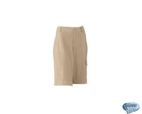 Womens Walking Shorts Dockers Calvary Longer Style Sz 12